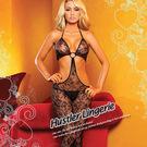 美國Hustler-放肆女王!性感一件式花樣蕾絲扣環貓裝HH9