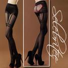 美國selebritee-吊帶愛心造型褲襪2106-黑