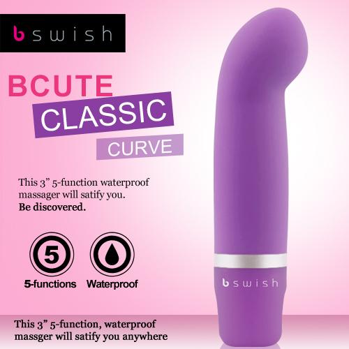 美國Bswish-Bcute Curve 第3代 5段變頻曲線款G點按摩器-神秘紫
