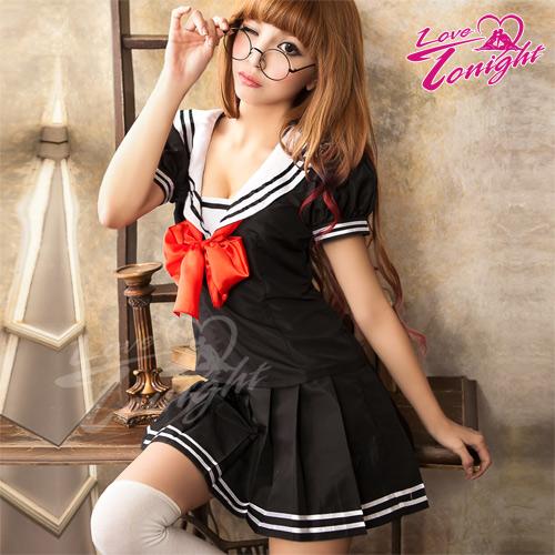 Sexy性感-學生服(愛在今夜)T9269-黑-F