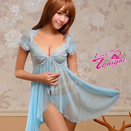 Sexy性感-睡衣(愛在今夜)T1352-水藍-F
