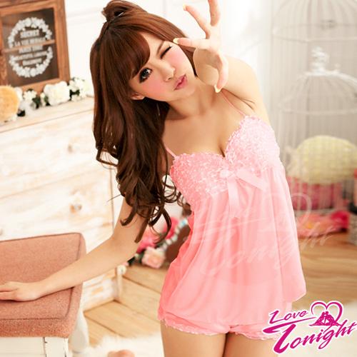 Sexy性感-睡衣(愛在今夜)T1354-粉-兩件