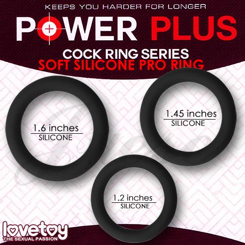 滿3500元贈POWER PLUS COCK 矽膠套環3入(薄)-黑