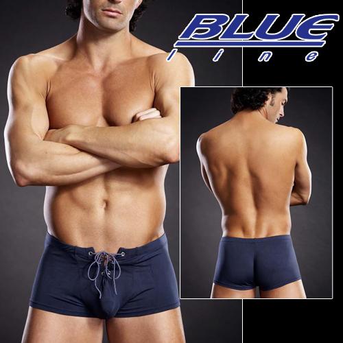 美國Blue Line-潮男綁帶平口褲-海軍藍 L/XL BLM004-適合亞洲男性尺寸